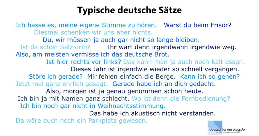 100 Sätze Reichen Für Ein Ganzes Leben Deutsch Lernen