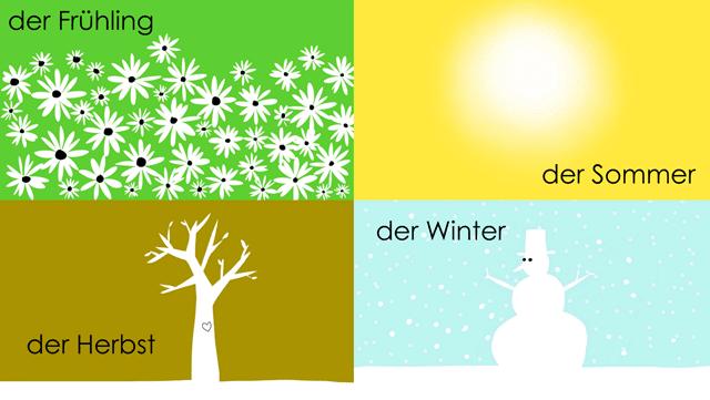 Jahreszeiten auf Deutsch