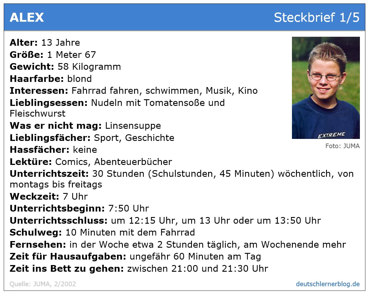 Leseverstehen Deutsch B1 - Steckbrief