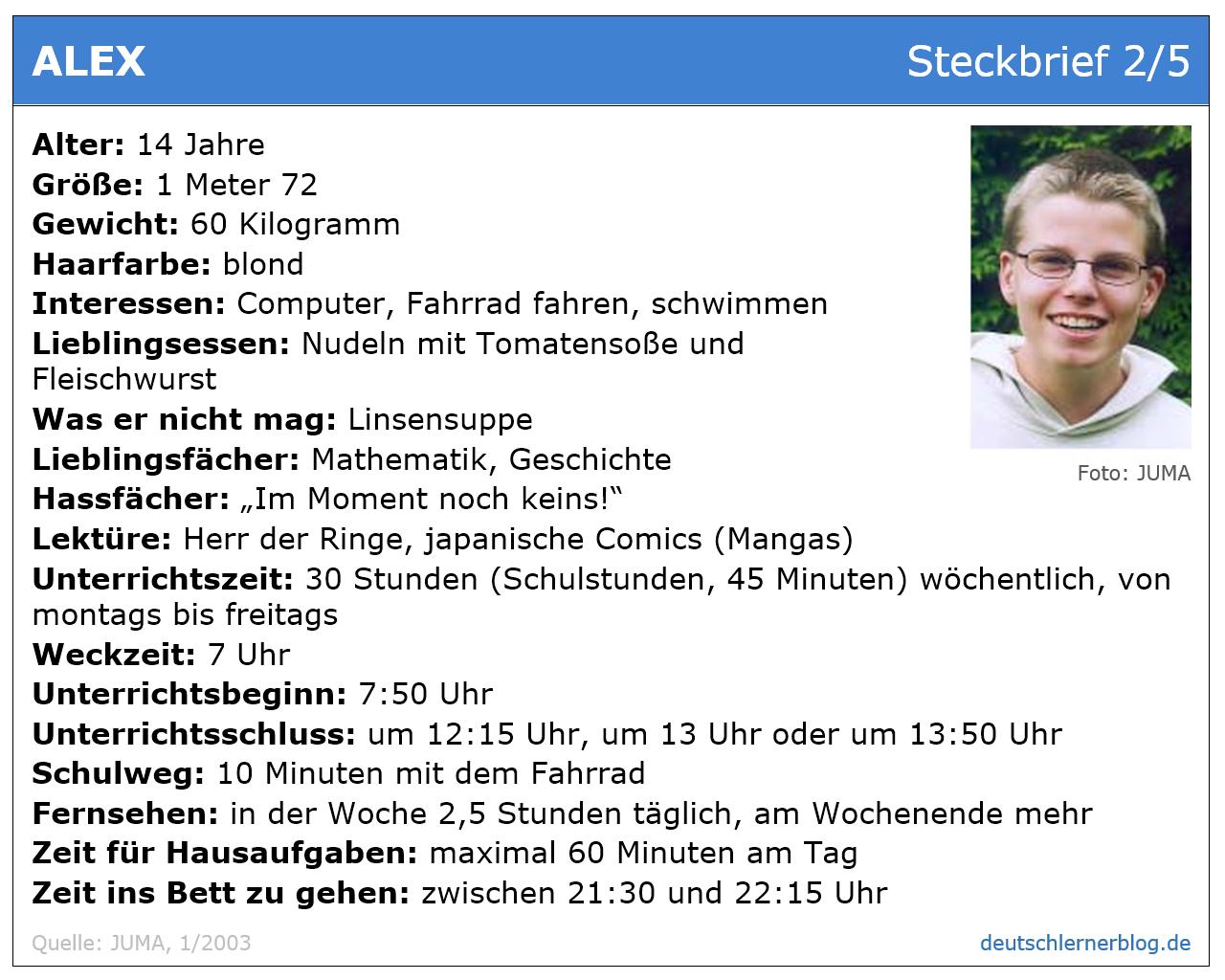 Übung zum Leseverstehen Deutsch