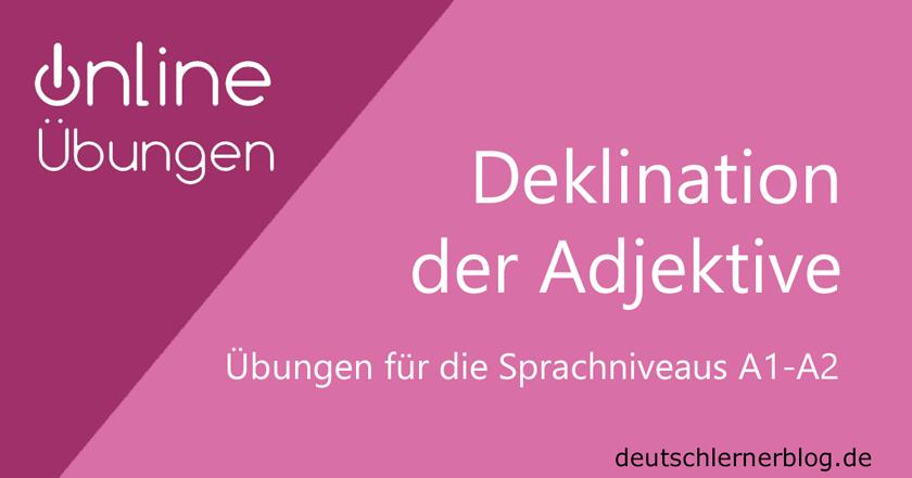 übungen Zur Adjektivdeklination Deutsch A1 A2 Adjektivendungen