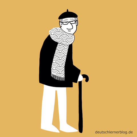 alt - alter Mann - Adjektive - Bilder - Wortschatz mit Bildern - Wortschatzbilder