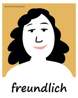 freundlich - Adjektive - Bilder - Wortschatz mit Bildern - Wortschatzbilder