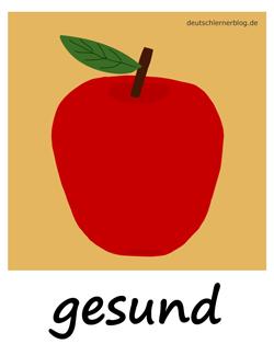 gesund - gesunde Ernährung - Adjektive - Bilder - Wortschatz mit Bildern - Wortschatzbilder