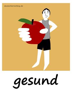 gesund - Adjektive - Bilder - Wortschatz mit Bildern - Wortschatzbilder