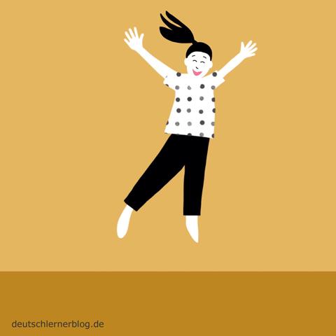 glücklich - froh - Adjektive - Bilder - Wortschatz mit Bildern - Wortschatzbilder