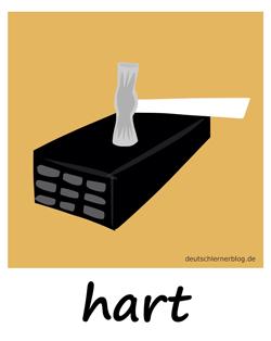 hart - Adjektive - Bilder - Wortschatz mit Bildern - Wortschatzbilder