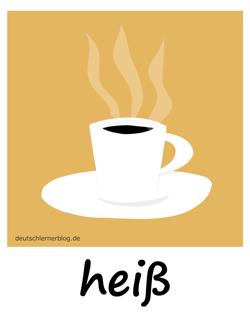 heiß - Adjektive - Bilder - Wortschatz mit Bildern - Wortschatzbilder