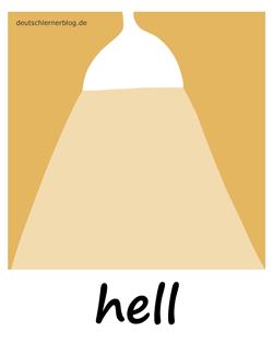 hell - Adjektive - Bilder - Wortschatz mit Bildern - Wortschatzbilder