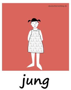 jung - Adjektive - Bilder - Wortschatz mit Bildern - Wortschatzbilder