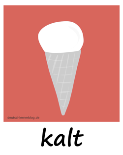 kalt - Adjektive - Bilder - Wortschatz mit Bildern - Wortschatzbilder