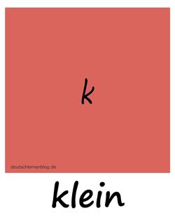 klein - Adjektive - Bilder - Wortschatz mit Bildern - Wortschatzbilder