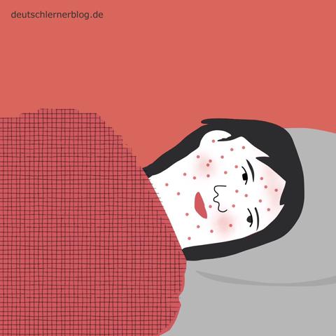 krank - Adjektive - Bilder - Wortschatz mit Bildern - Wortschatzbilder