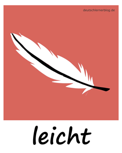 leicht - federleicht - Adjektive - Bilder - Wortschatz mit Bildern - Wortschatzbilder
