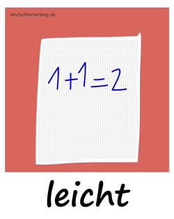 leicht - Adjektive - Bilder - Wortschatz mit Bildern - Wortschatzbilder