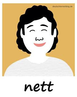 nett - sympathisch - Adjektive - Bilder - Wortschatz mit Bildern - Wortschatzbilder
