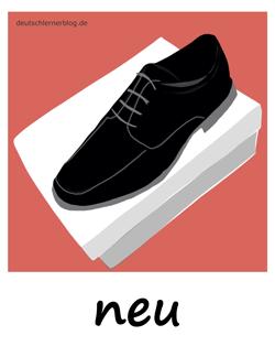neu - Adjektive - Bilder - Wortschatz mit Bildern - Wortschatzbilder