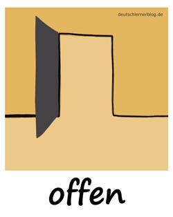 offen - auf - geöffnet - Adjektive - Bilder - Wortschatz mit Bildern - Wortschatzbilder