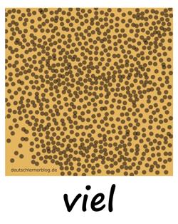 viel - Adjektive - Bilder - Wortschatz mit Bildern - Wortschatzbilder