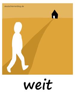 weit - Adjektive - Bilder - Wortschatz mit Bildern - Wortschatzbilder