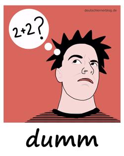 dumm_Adjektive_Übung_Deutsch_lernen_125x157