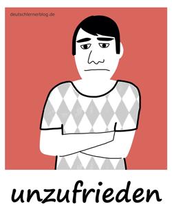 unzufrieden_2_Adjektive_Übung_Deutsch_lernen_125x157