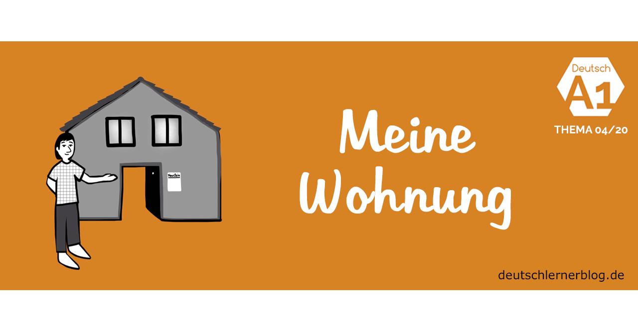 Online-Übung - Deutsch lernen A1 - Thema - Wohnung - Wohnen - Haus - Deutschkurs A1