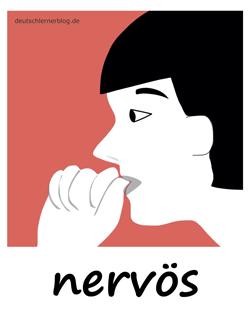 nervös - unruhig - Fingernägel kauen