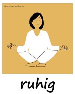 ruhig - Ruhe - Yoga -