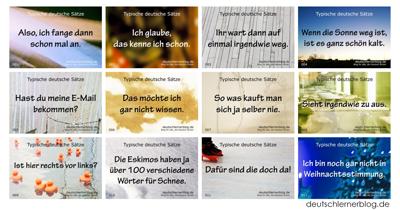 100 typische deutsche Sätze mit Bildern