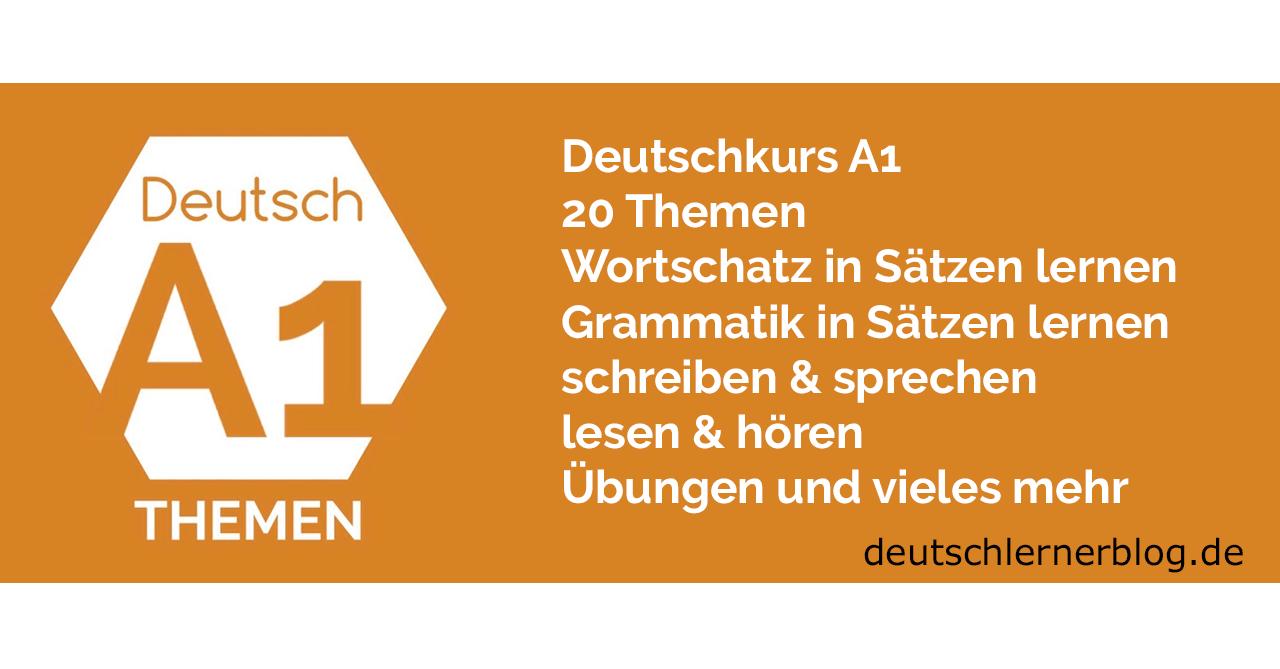 Deutsch lernen A1
