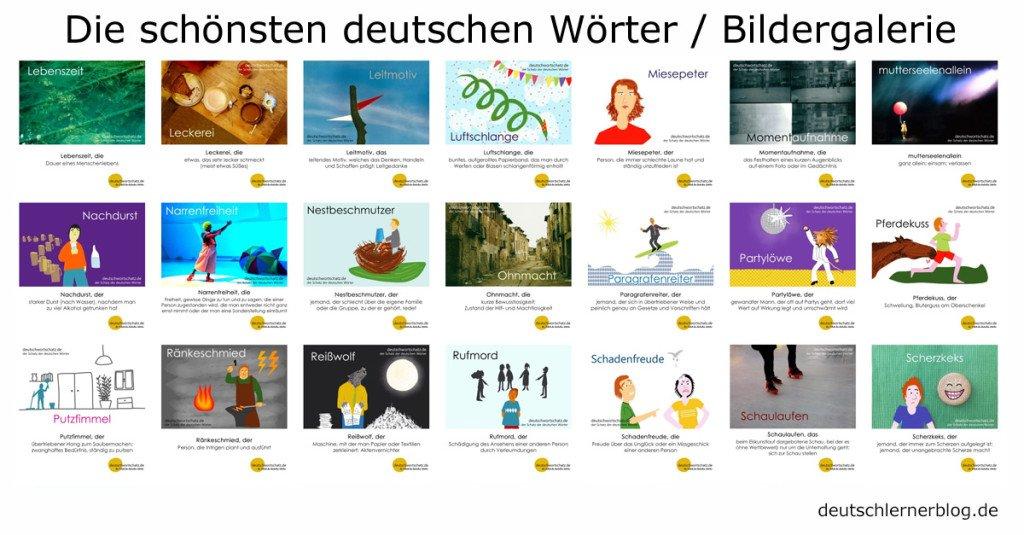 die schönsten deutschen Wörter mit Bildern - Bildergalerie