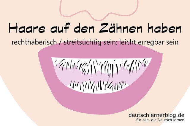 Haare auf den Zähnen - Redewendungen - Deutsch lernen