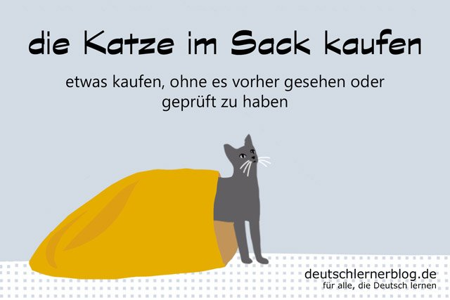 die katze im sack kaufen deutsche redewendungen 12 bilder. Black Bedroom Furniture Sets. Home Design Ideas