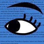 Leseverstehen - Auge - Lesetexte - Deutsch lesen