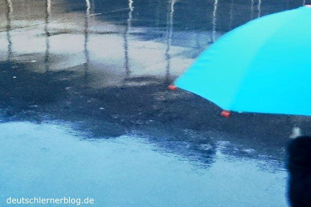 Regentage - Regenzeit - Regenschirm