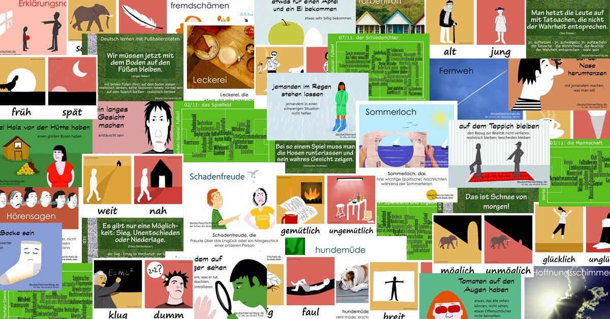 Wortschatz mit Bildern - Deutsch lernen mit Bildern - Wortschatz - Grammatik - Redewendungen