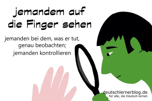 auf die Finger sehen - Redewendungen - Deutsch lernen - auf die Finger schauen