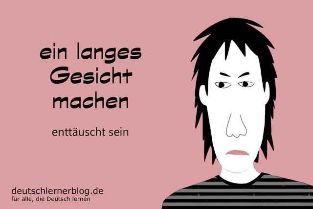 langes Gesicht machen - Redewendungen - Deutsch lernen