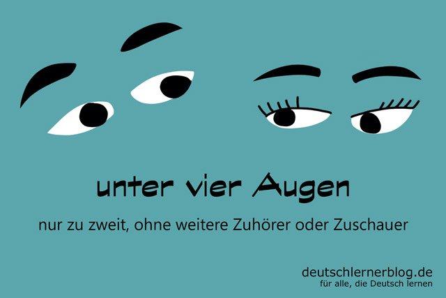 unter vier Augen - Redewendungen - Deutsch lernen