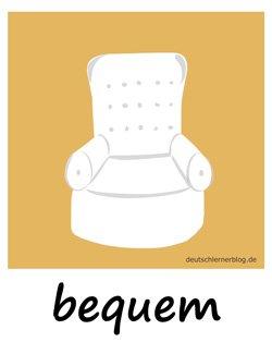 bequem - Adjektive Bilder