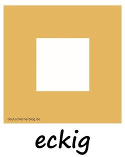 eckig - Adjektive Bilder
