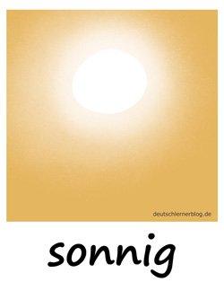 sonnig - Sonne