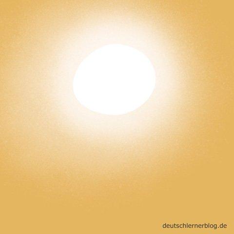 sonnig - Wetter - Sonnentag
