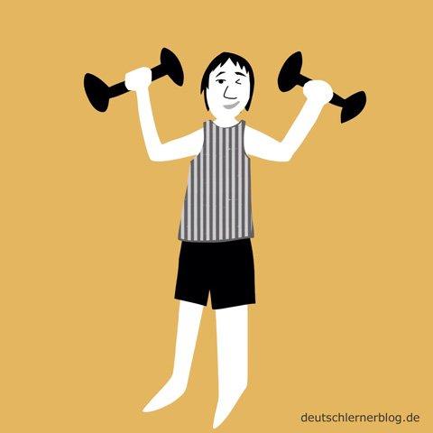 sportlich - stark - Fitnessstudio - Fitnessprogramm