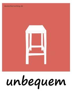 unbequem - Sitzgelegenheit