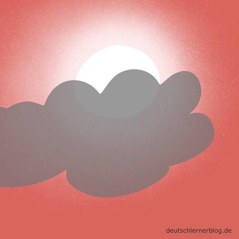 wolkig - Wetter - bewölkt