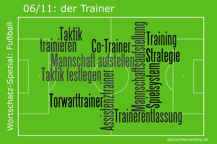 Fußball - Wortschatz - Trainer