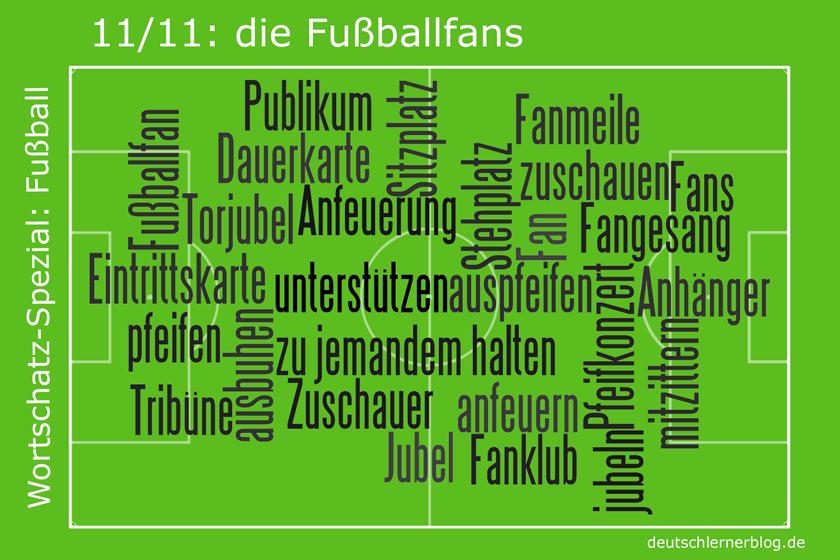 Fussball - Wortschatz - Fussballfans