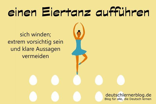 Eiertanz - Redewendungen - Deutsch lernen